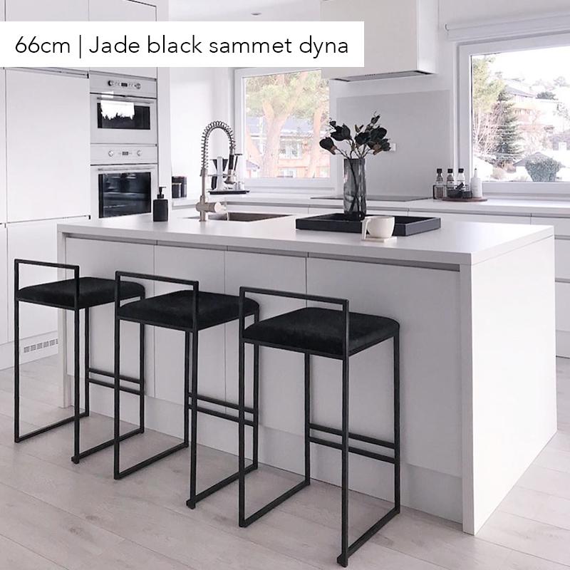 Bar chair, bar stool, black velvet, black bar chair