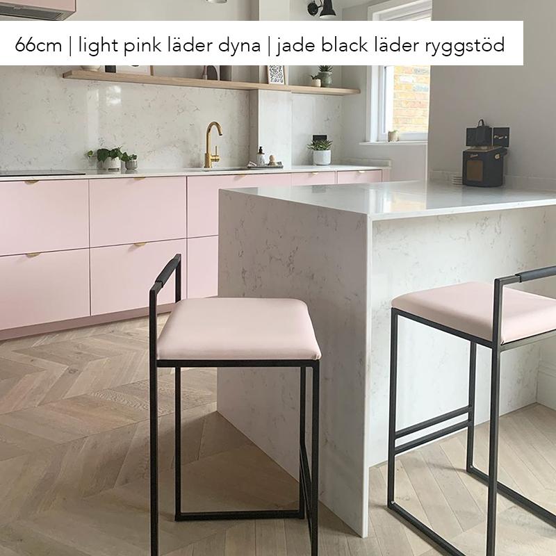 Freja barstol - by Crea® - light pink läder