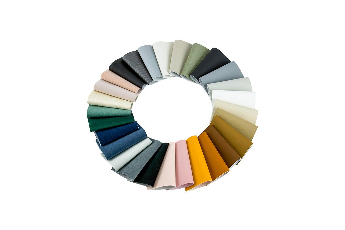 Färgkarta - Fabric chart - Farvekort - Stoffsamling - Farbkarte - Carte de couleurs