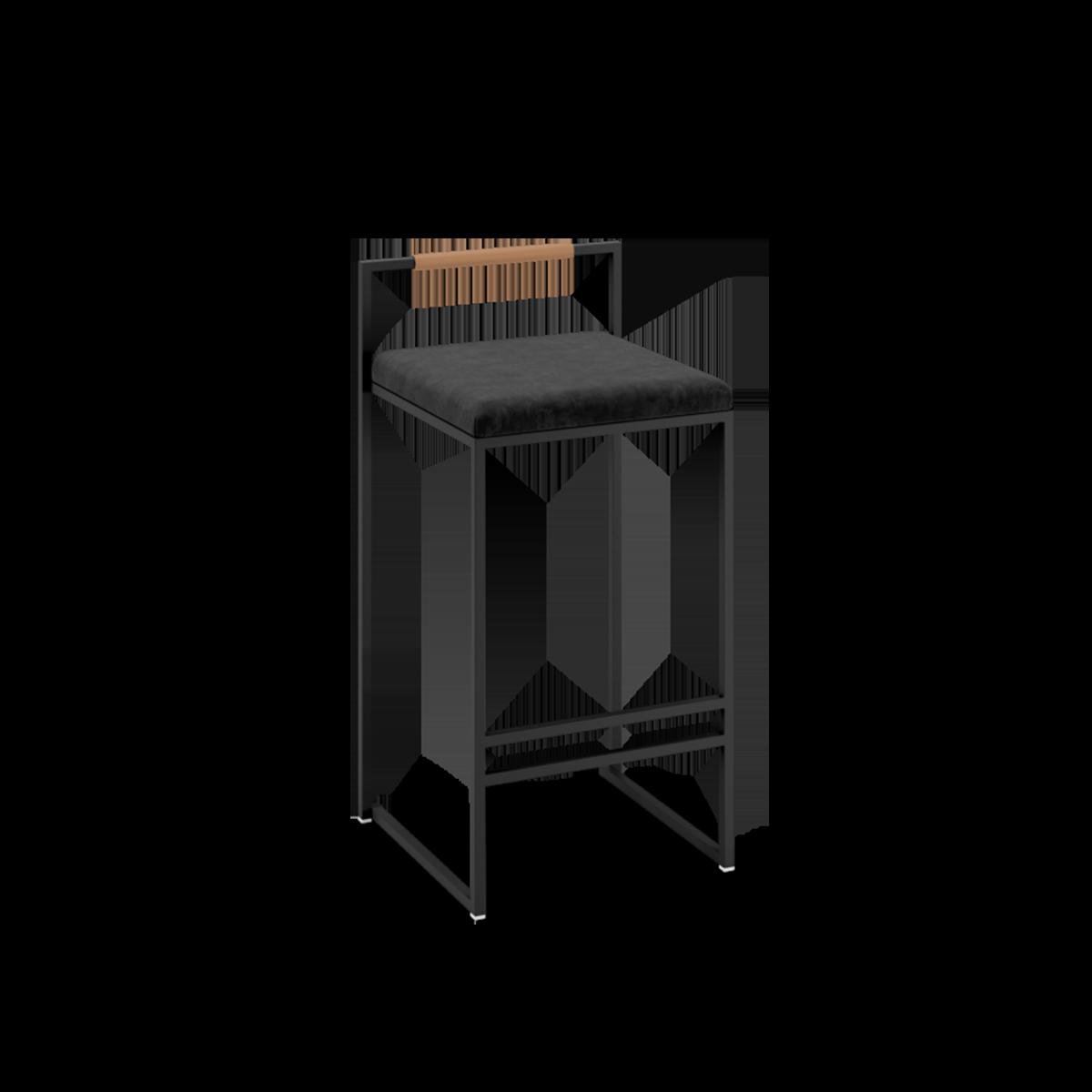 Freja barstol i sammet - by Crea® barstol