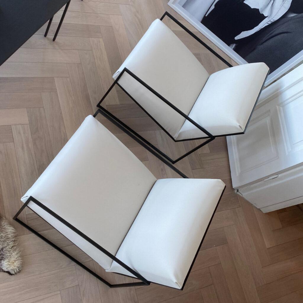 kent lounge chair white