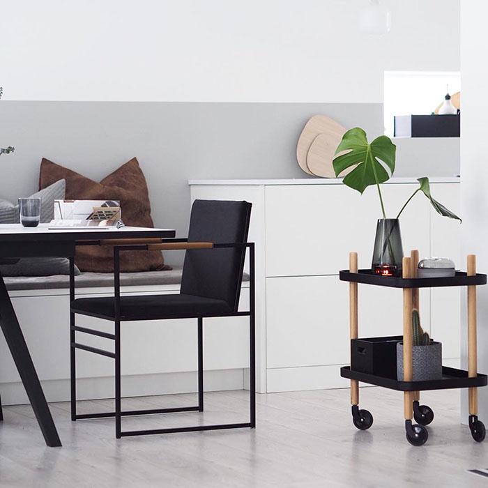 Sella chair - stol - stuhl - chaise jade black velvet velours samt fløyel sammet