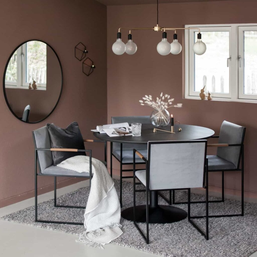 Sella chair - Sella chaise - Sella matstol stol - Sella stuhl - Dusty grey sammet velours fløyel velvet