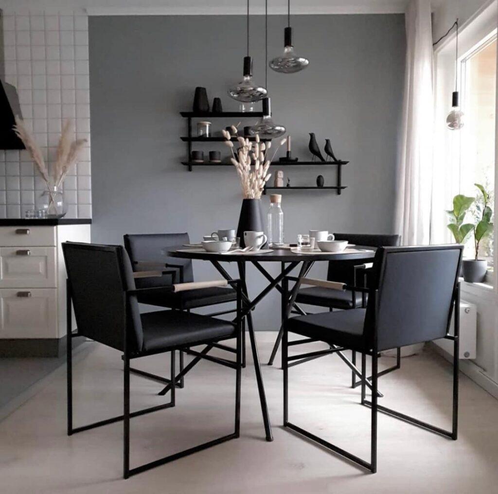 Jade black - LÄDER - SVART Freja barstol - chaise de bar - barstuhl - bar chair - tabouret - jade black - leather - läder - lär - leder