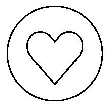 hjärta - logga - by crea - heart logo