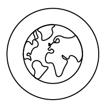 World wide delivery - by crea - globe logo