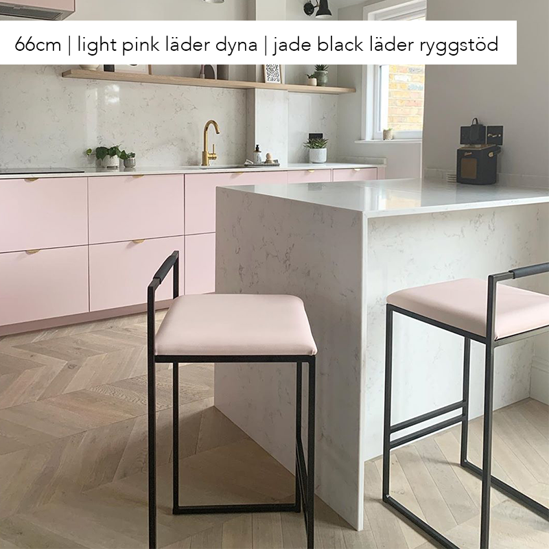 Freja barstol - by Crea® - light pink läder